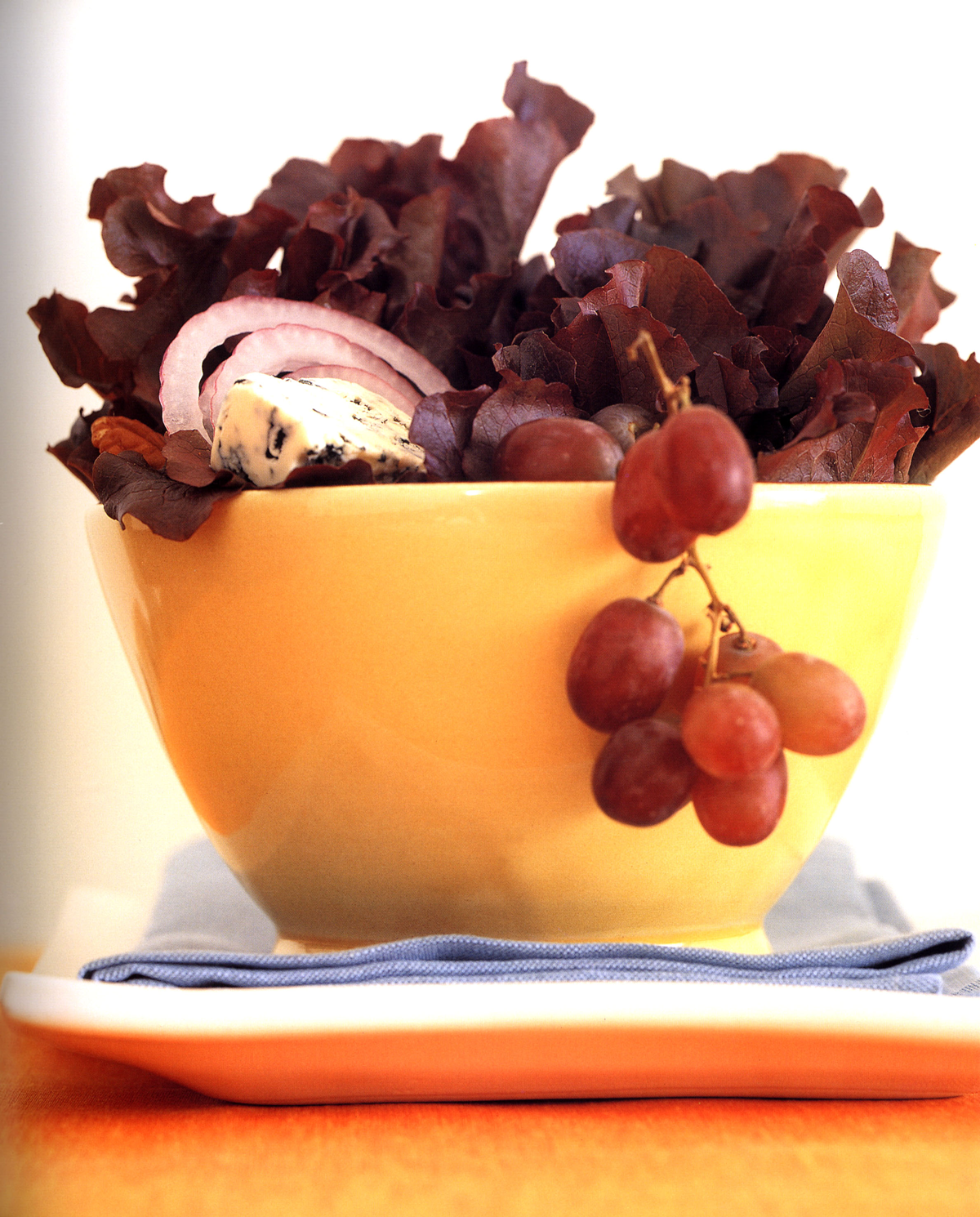 Mary-and-Sara- Red Leaf Lettuce with Grapes Blue Cheese Pecans and Balsamic Vinaigrette