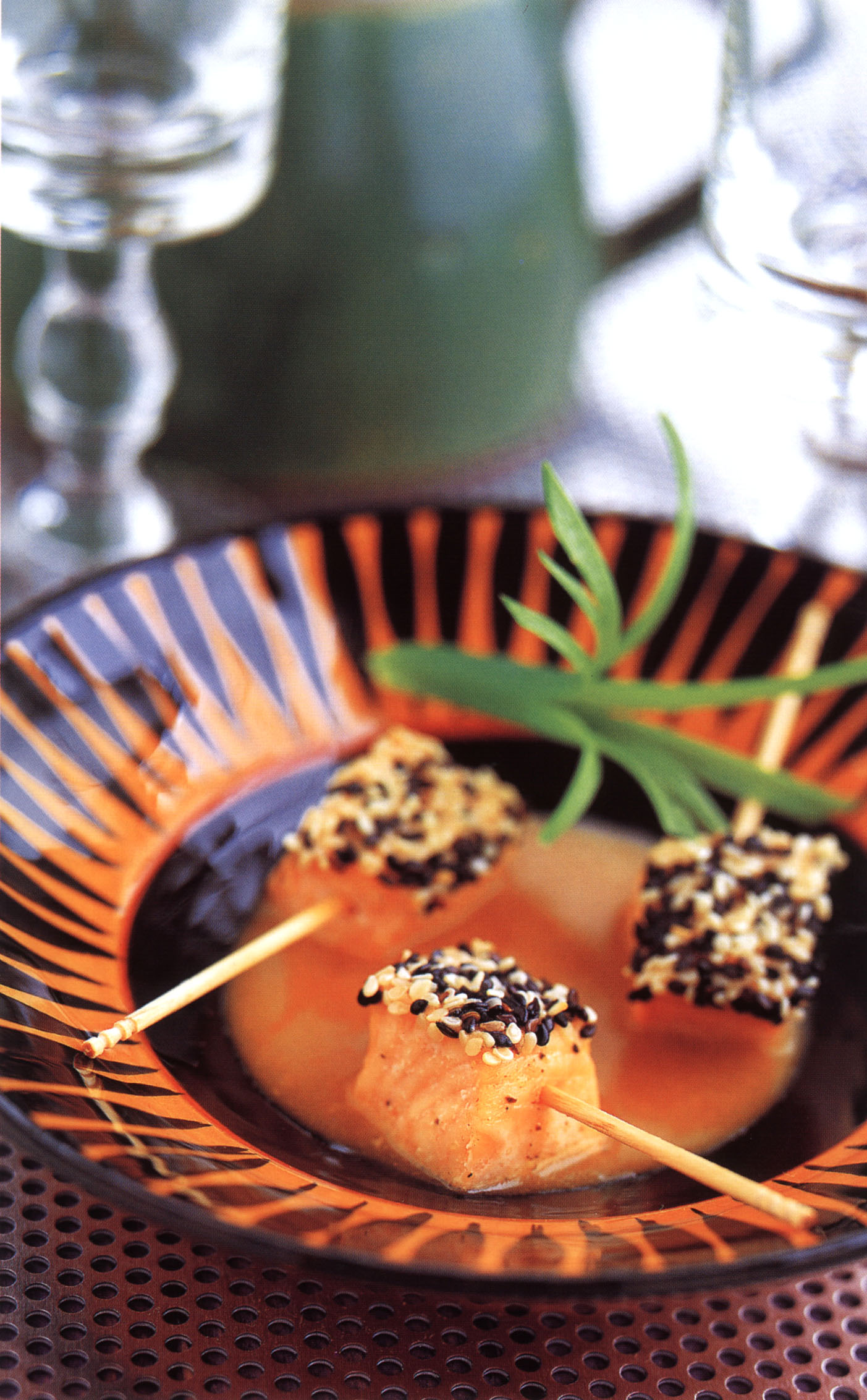 Sesame-Crusted Salmon with Pineapple-Miso Sauce