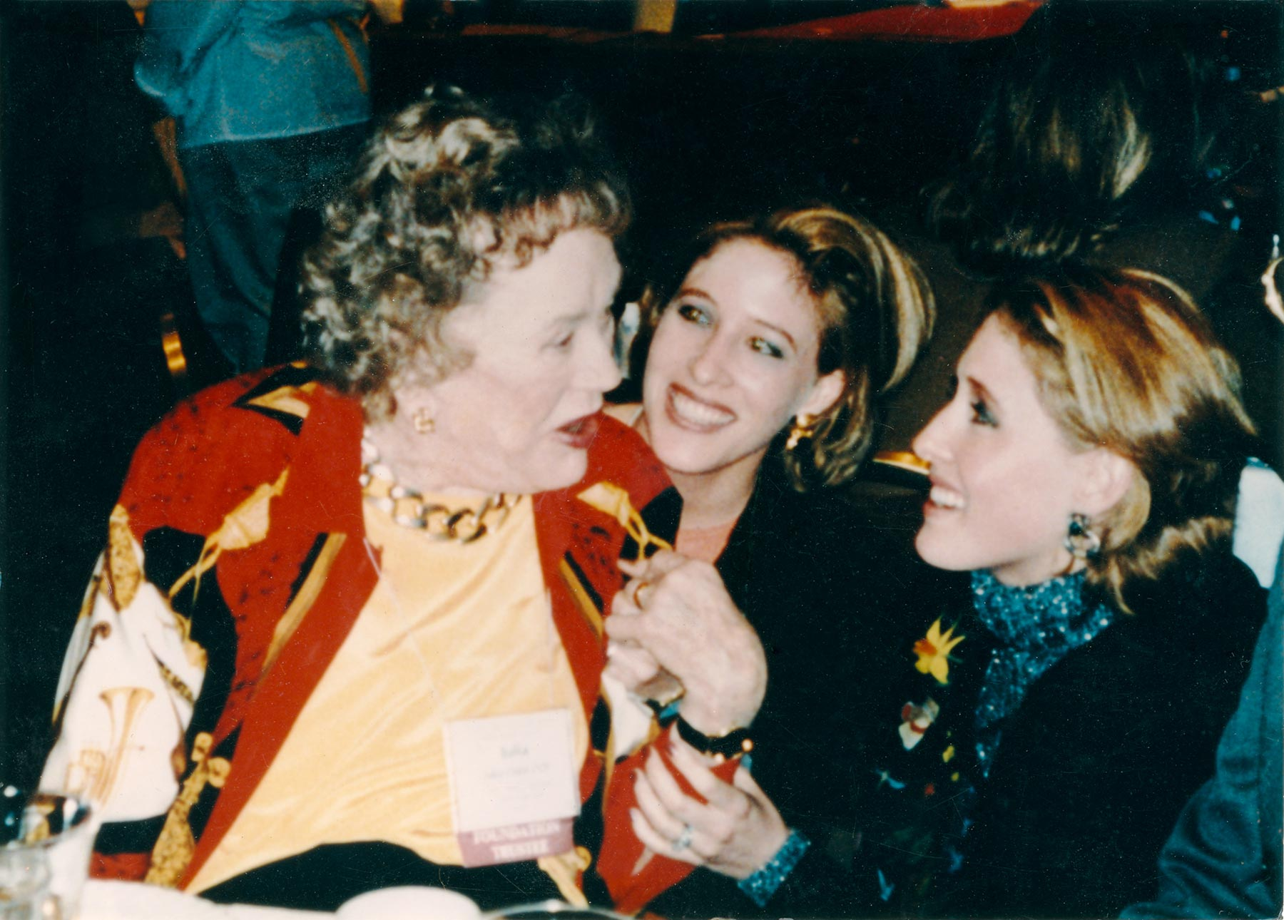 Mary and Sara with Julia Child