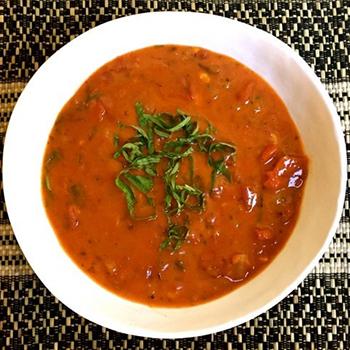 """Creamless"" Creamy Spicy Chipotle Tomato Soup"