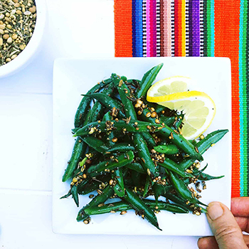 Green Beans with Toasty Seeds