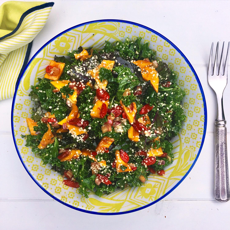 Mary and Sara - Tangy Kale Salad