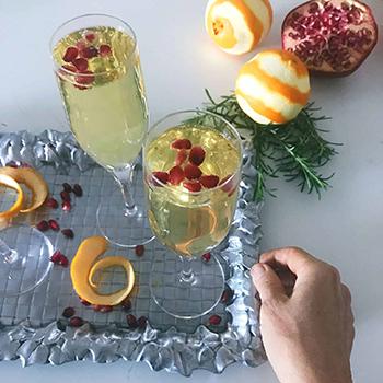 Orange Champagne Sparklers